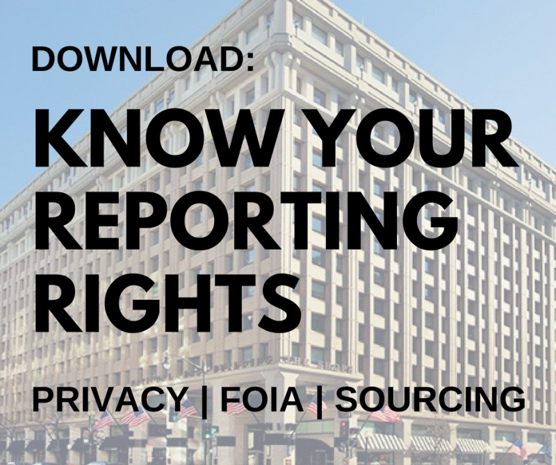 Watch: Know Your Reporting Rights
